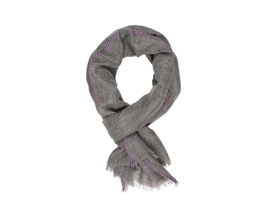Woolen Scarf Anthracite Grey