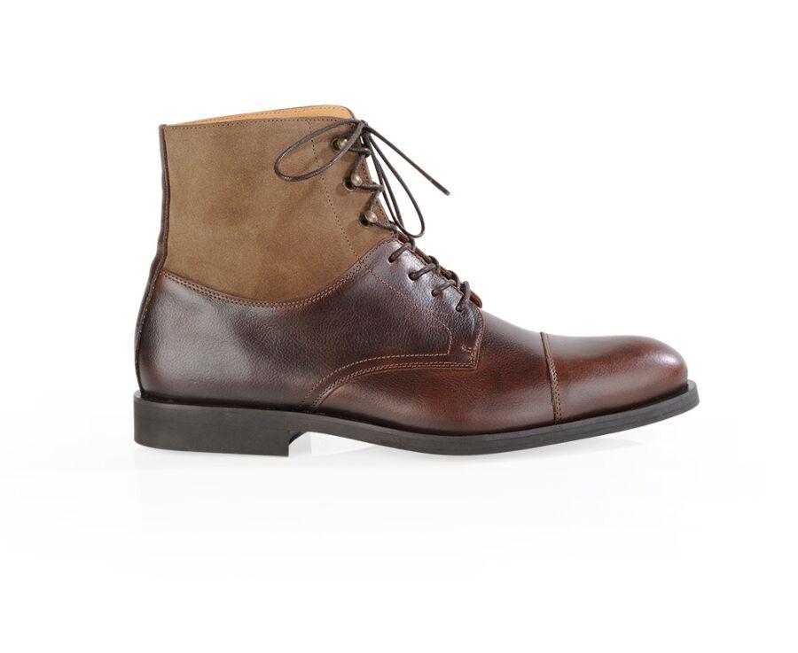 Derby boots homme à lacets Chocolat Grainé - IRVING GOMME COUNTRY