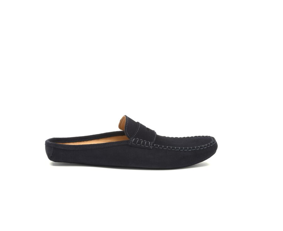Chaussons Mules Navy Suede