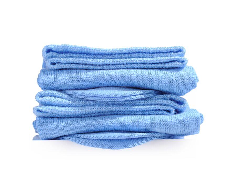 Chaussettes homme fines coton Bleu Ciel
