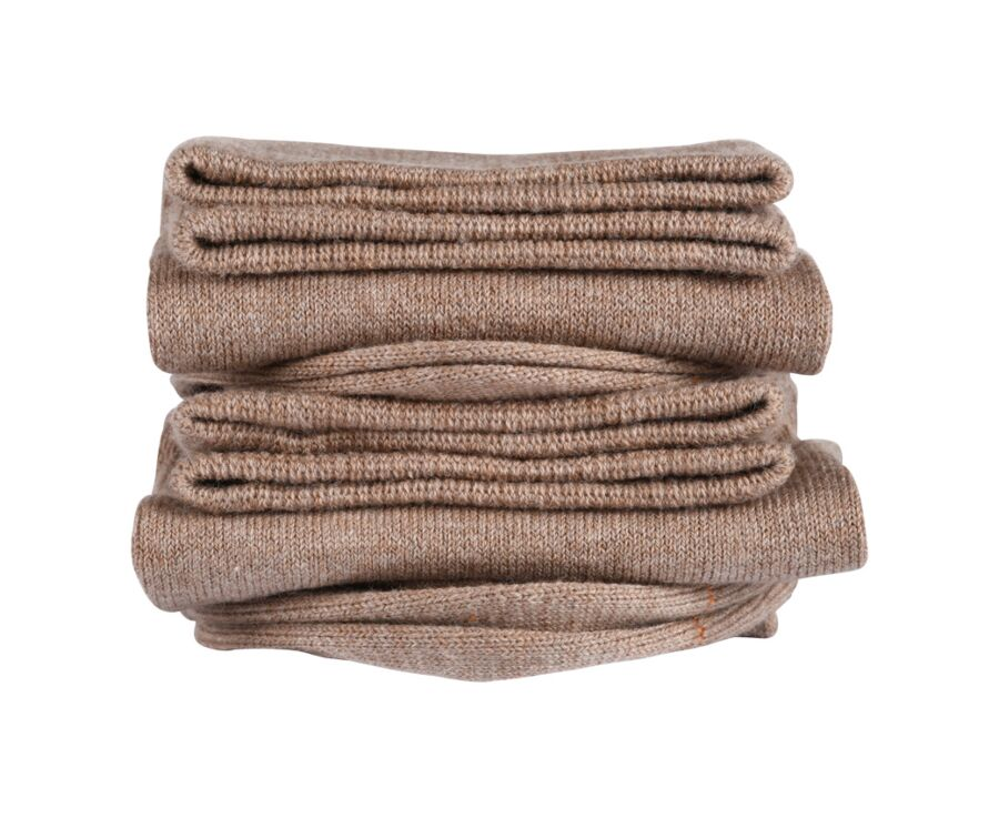 Chaussettes fines coton taupe chiné