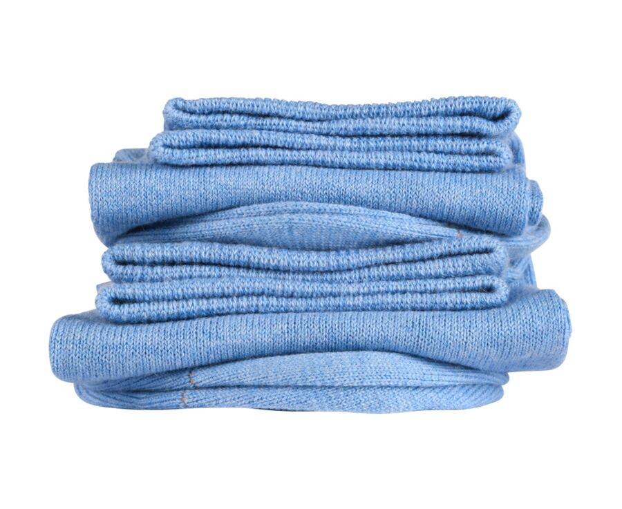 Light Cotton Socks Blue Melange