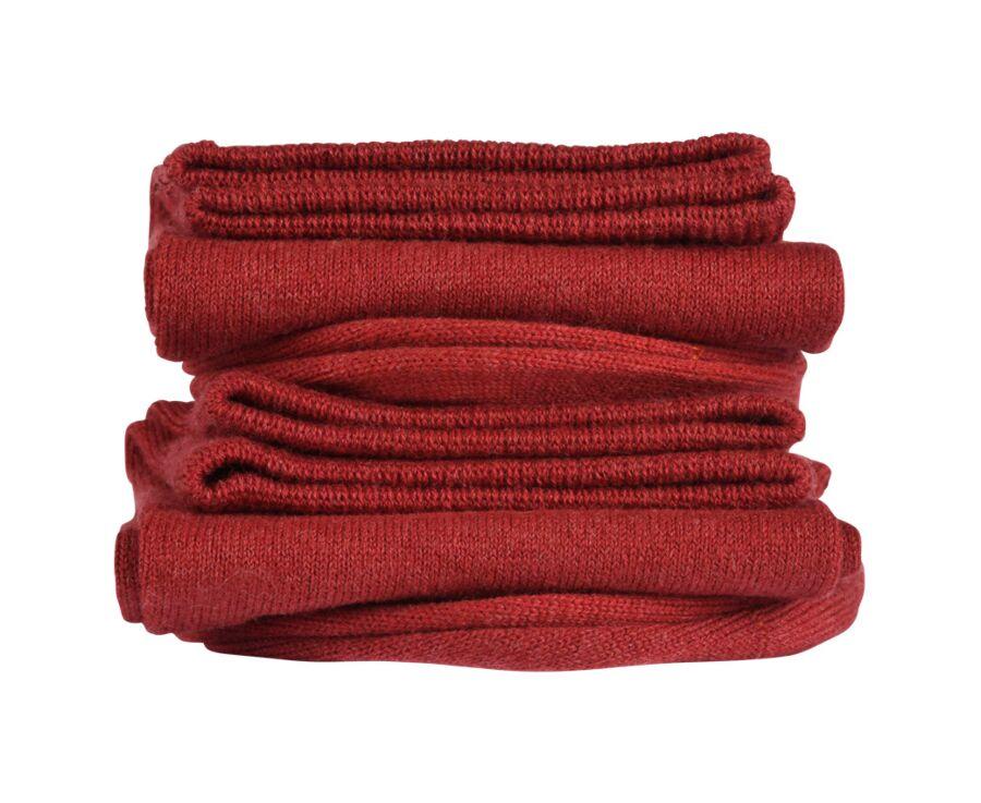 Light Cotton Socks Red Melange