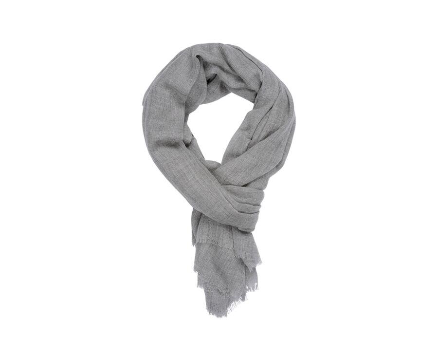 Woolen Cashmere Scarf Grey Melange