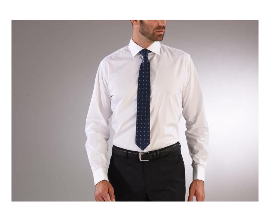 Chemise blanche à boutons de manchettes - PIETRO