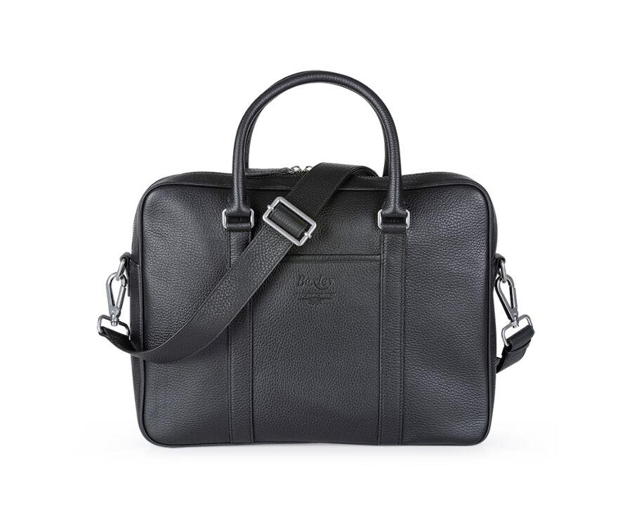 Karlington II Black grained leather