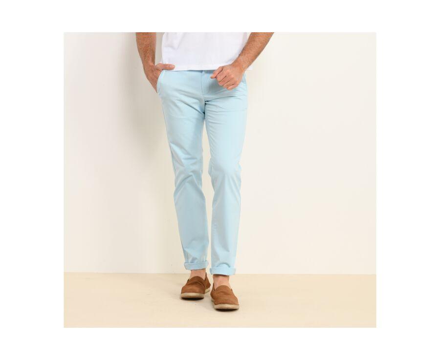 Pantalon chino homme Bleu Ciel - KYRK