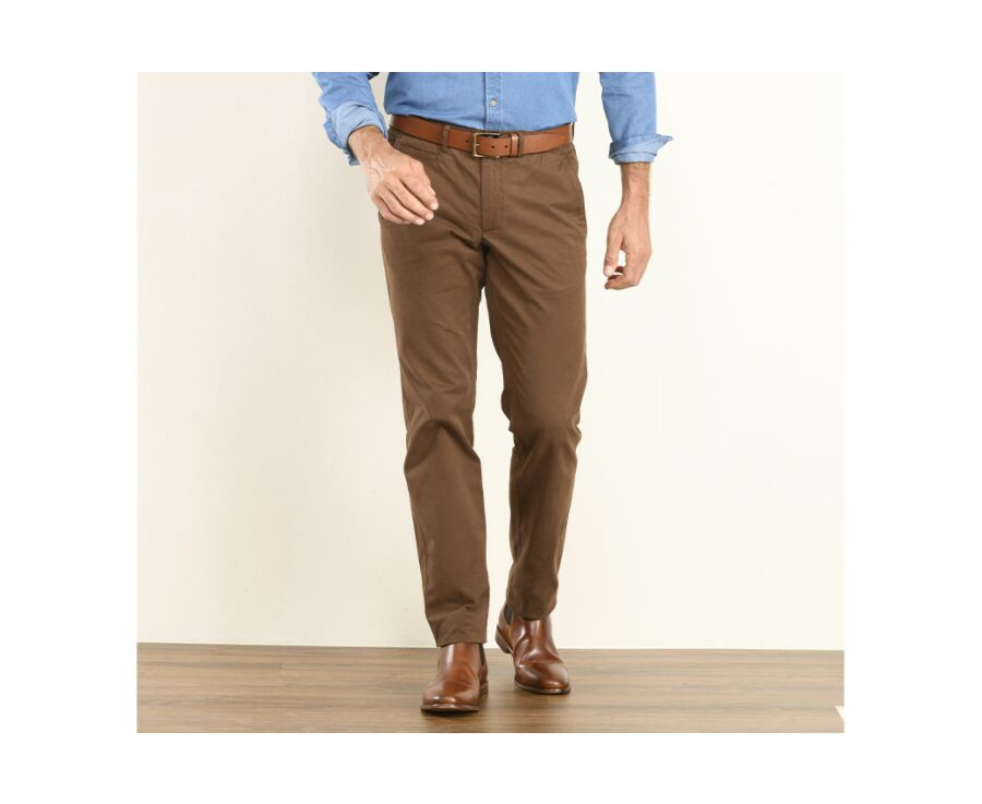 Pantalon chino homme Chocolat - KYRK