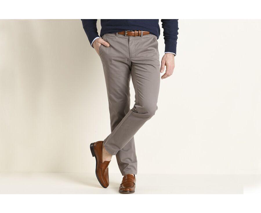 Pantalon chino homme Taupe - KYRK