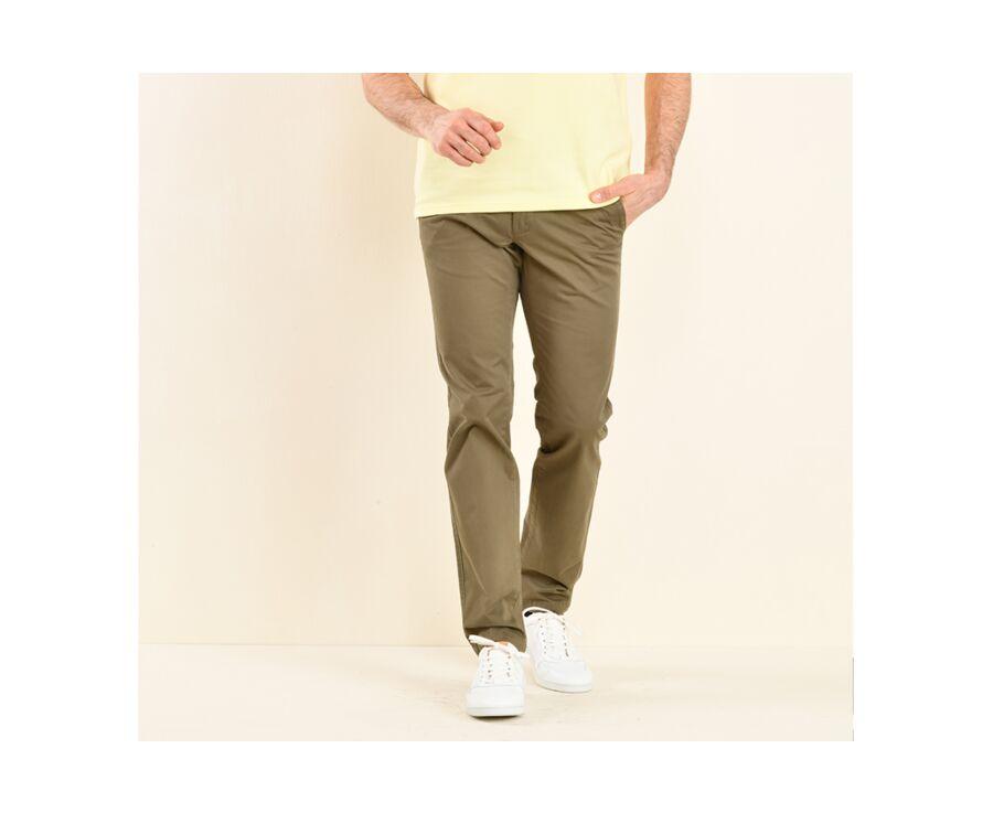 Pantalon chino homme Olive Foncé - KYRK