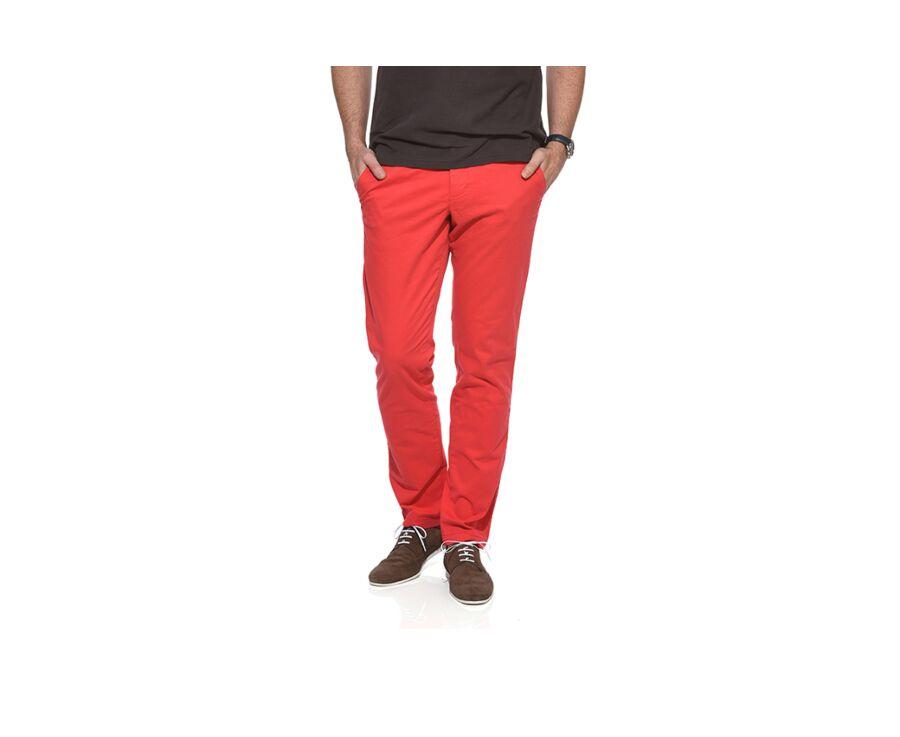 Pantalon chino homme Rouge Vif - KYRK