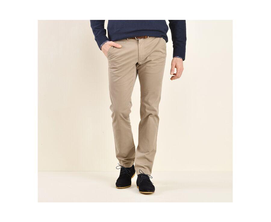 Pantalon chino homme Taupe Clair - KYRK