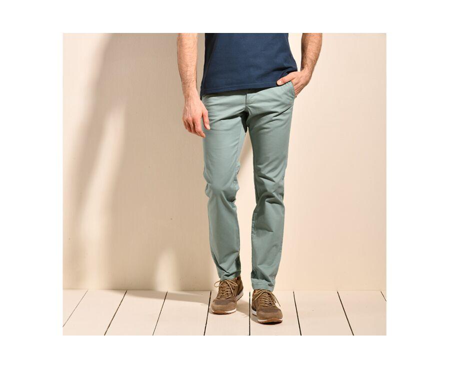 Pantalon chino homme Vert Givré - KYRK