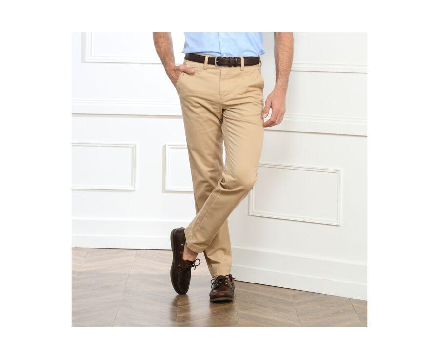 Pantalon chino homme Beige Foncé - JERRY