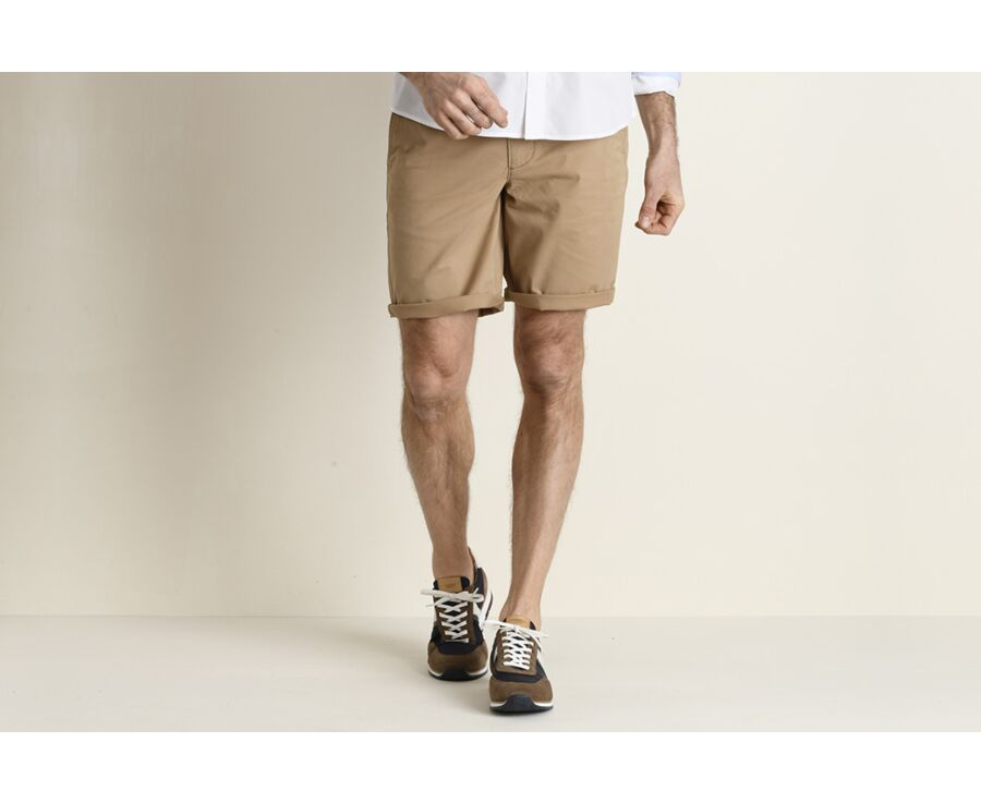Bermuda chino homme Camel - BARRY