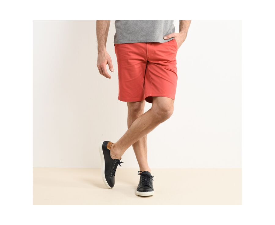 Bermuda chino homme Corail - BARRY