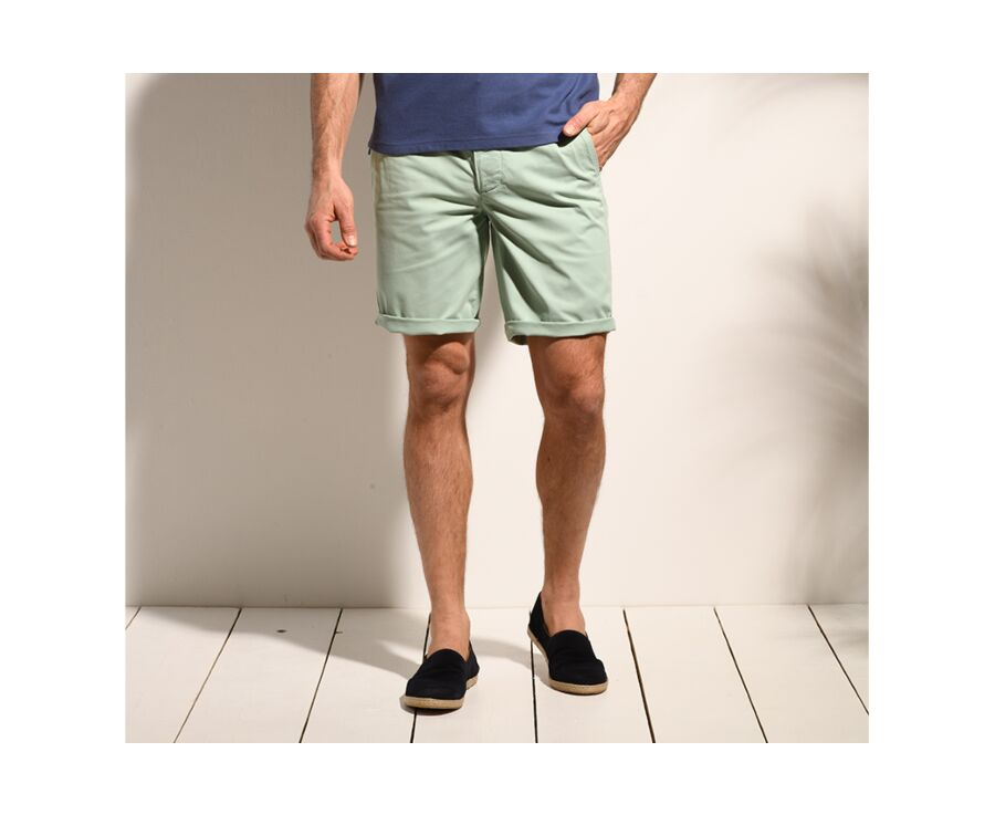 Bermuda chino homme Menthe - BARRY