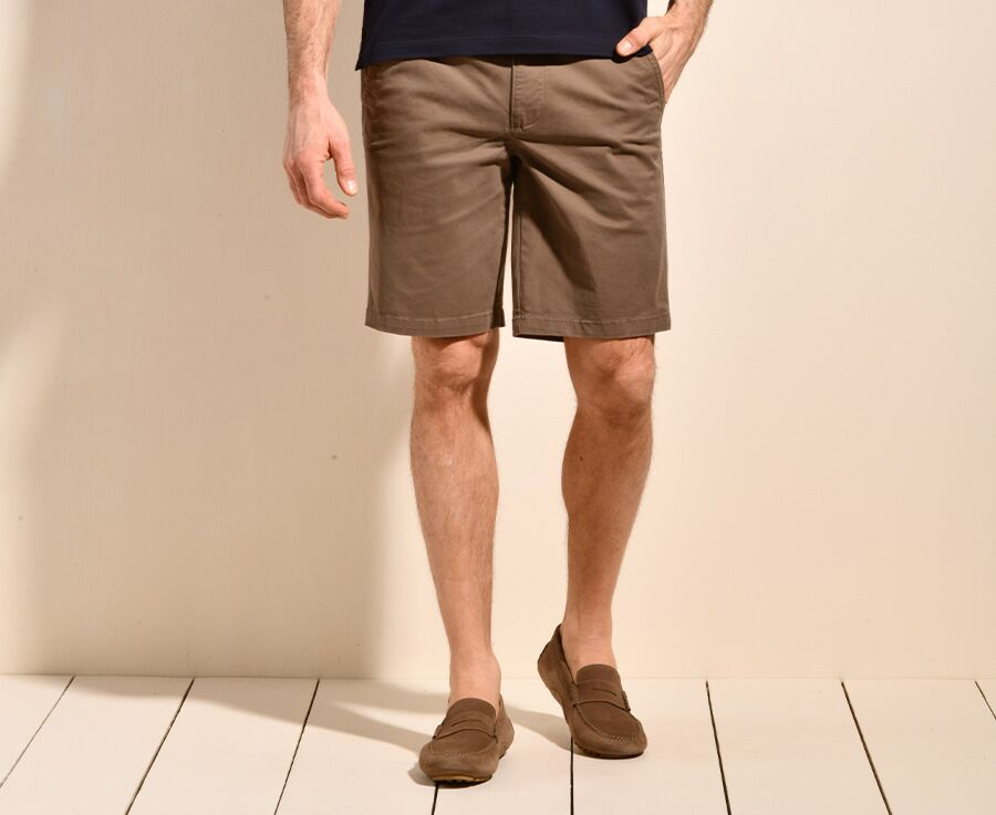 Bermuda chino homme Taupe Foncé II - BARRY
