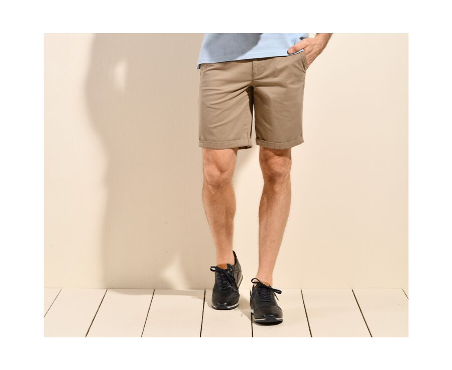 Bermuda chino homme Taupe Clair - BARRY