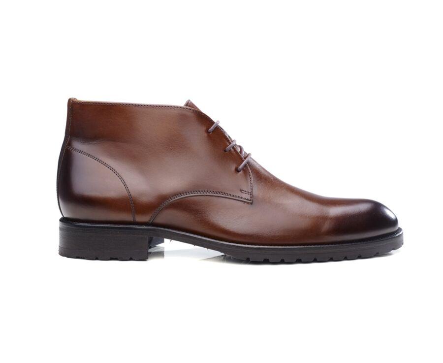 Desert boots homme Cognac patiné - WARWICK