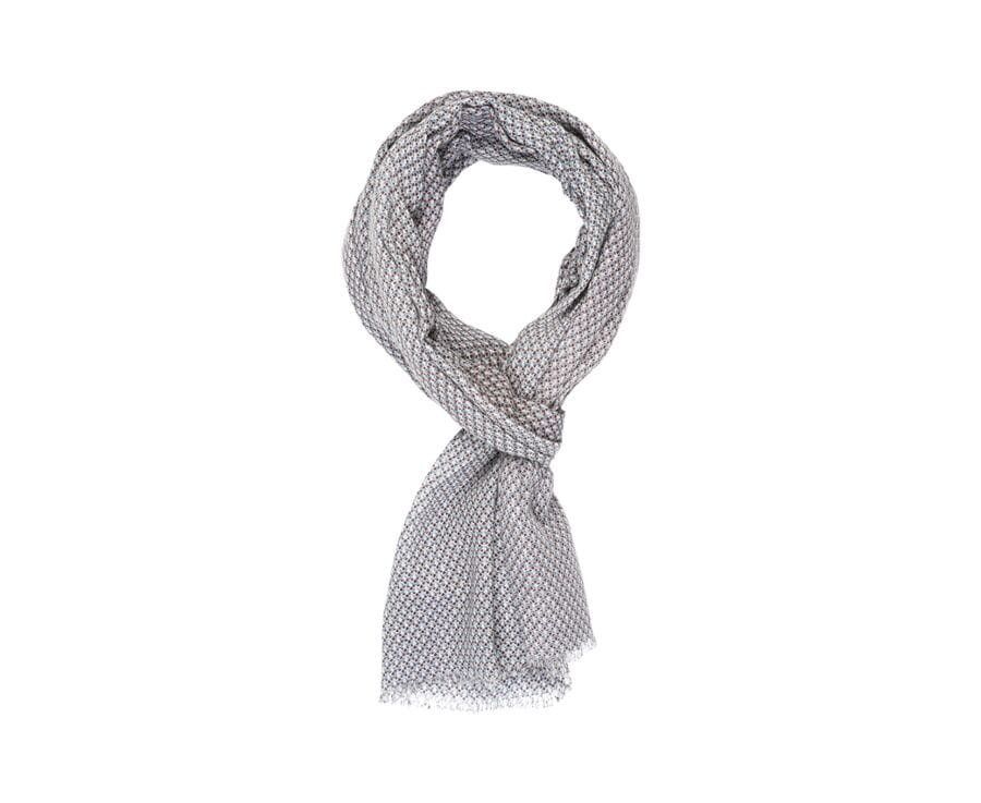 Cotton Thin Scarf Blue and chocolate pattern