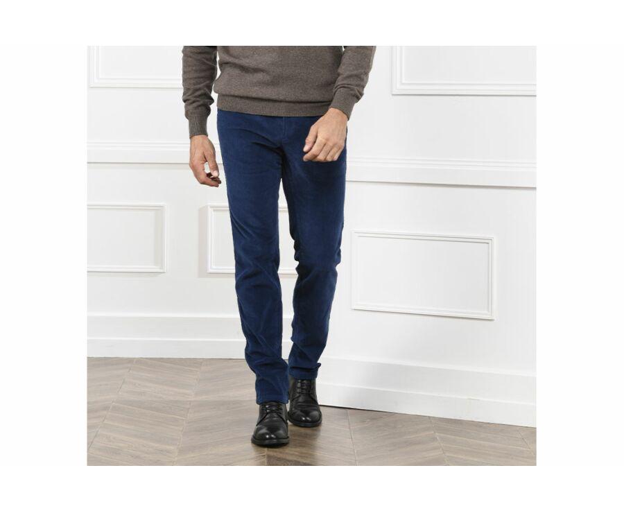 Pantalon chino velours côtelé homme Bleu - NORMAN