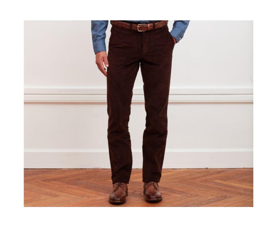 Pantalon chino velours côtelé homme Chocolat - NORMAN