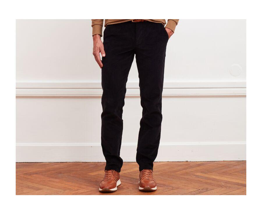 Pantalon chino velours côtelé homme Noir - NORMAN