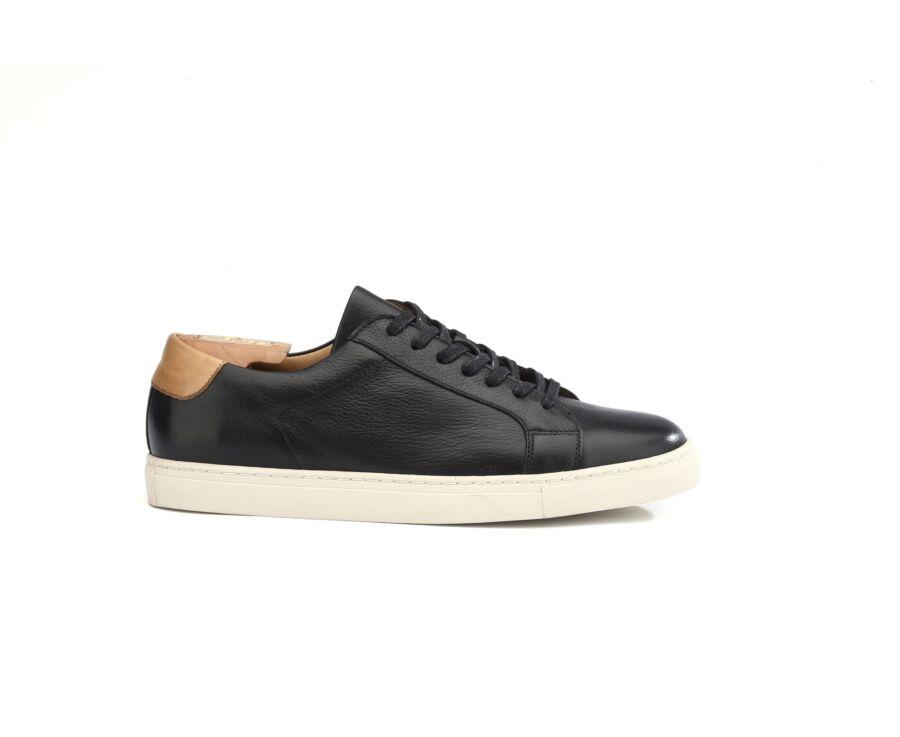 Sneakers homme cuir Noir Grainé - INGLEWOOD