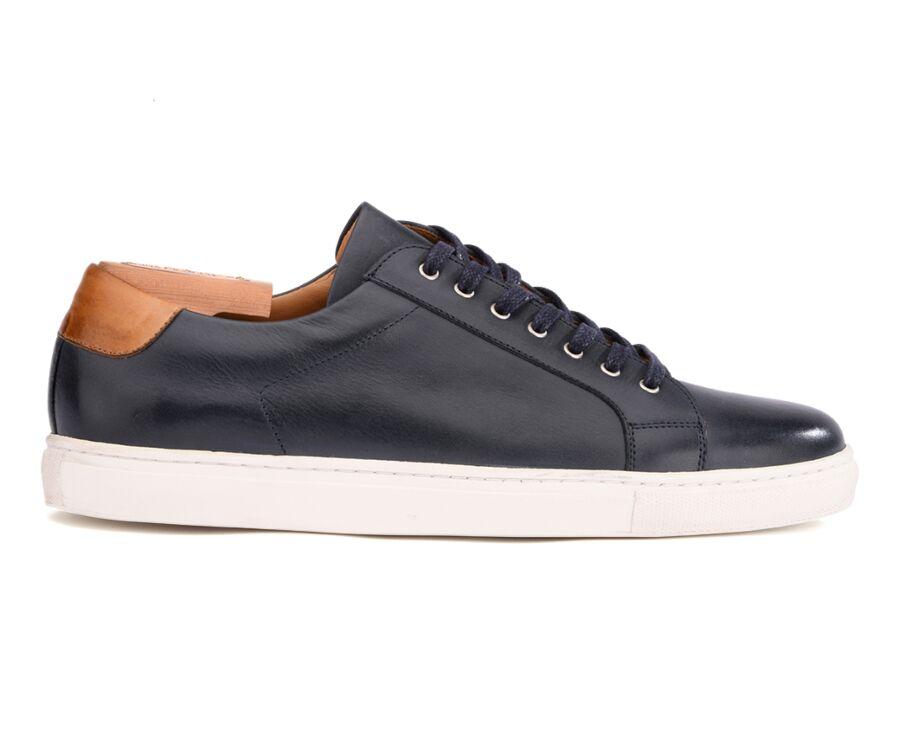 Sneakers cuir homme Navy Patiné - INGLEWOOD