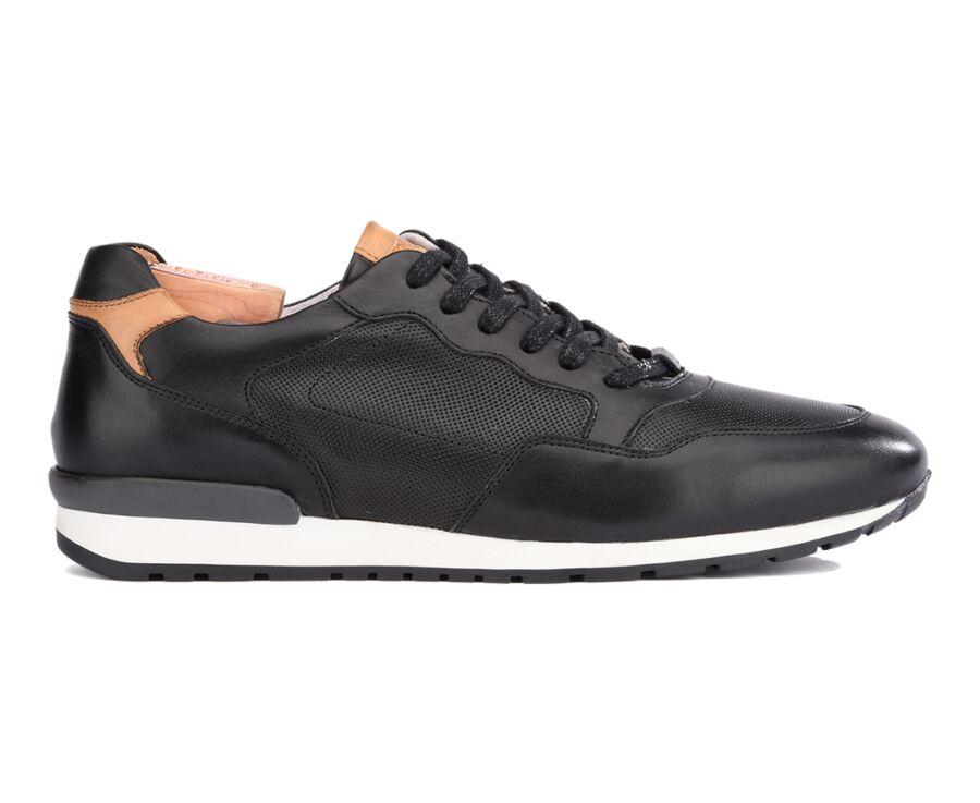 Sneakers homme Noir Patiné - CANBERRA