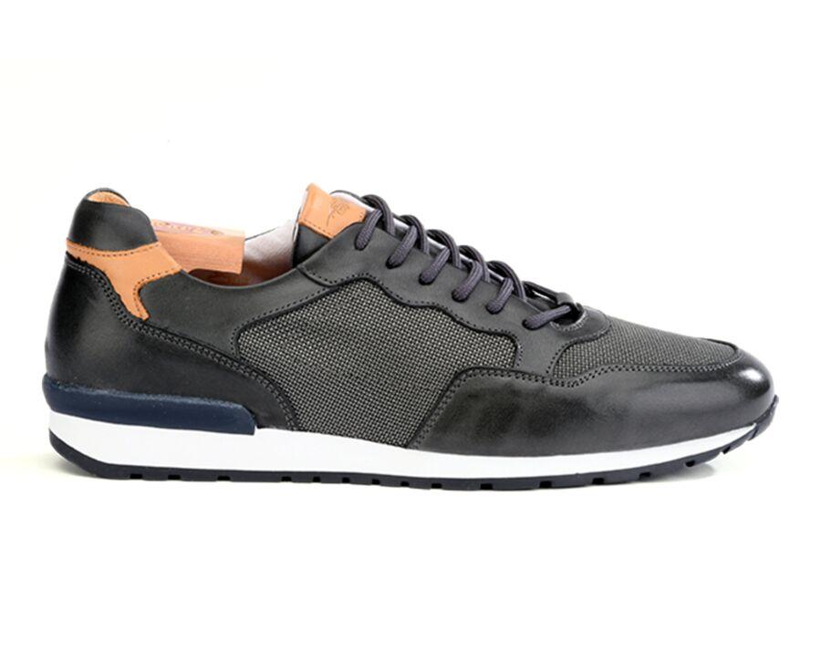Sneakers homme Réglisse Patiné - CANBERRA