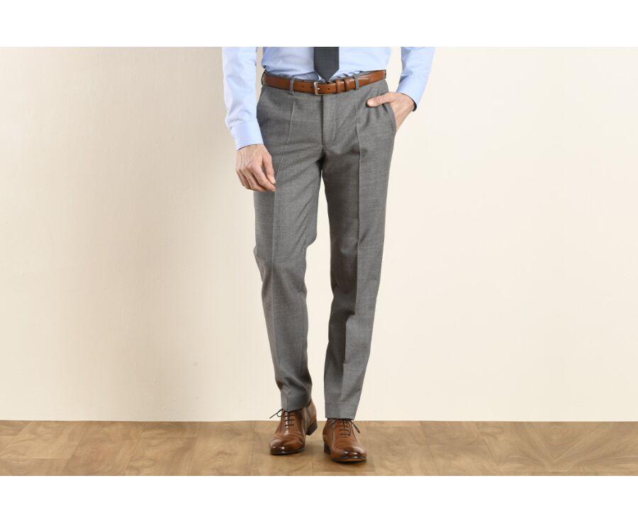 Pantalon de costume homme Gris Clair - LAZARE