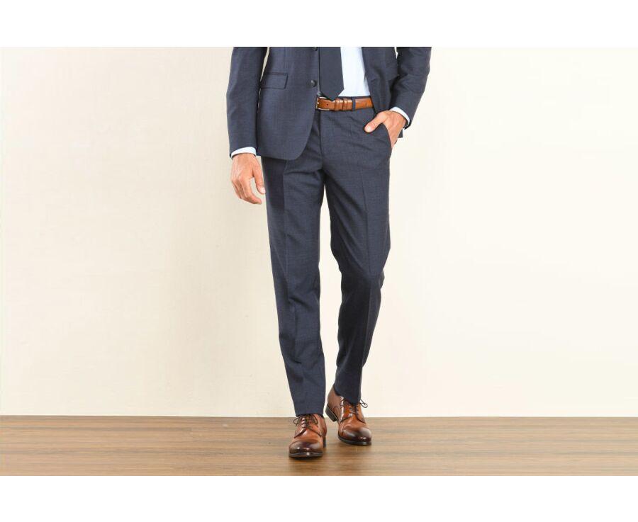 Pantalon de costume homme Bleu Foncé Chiné - LAZARE