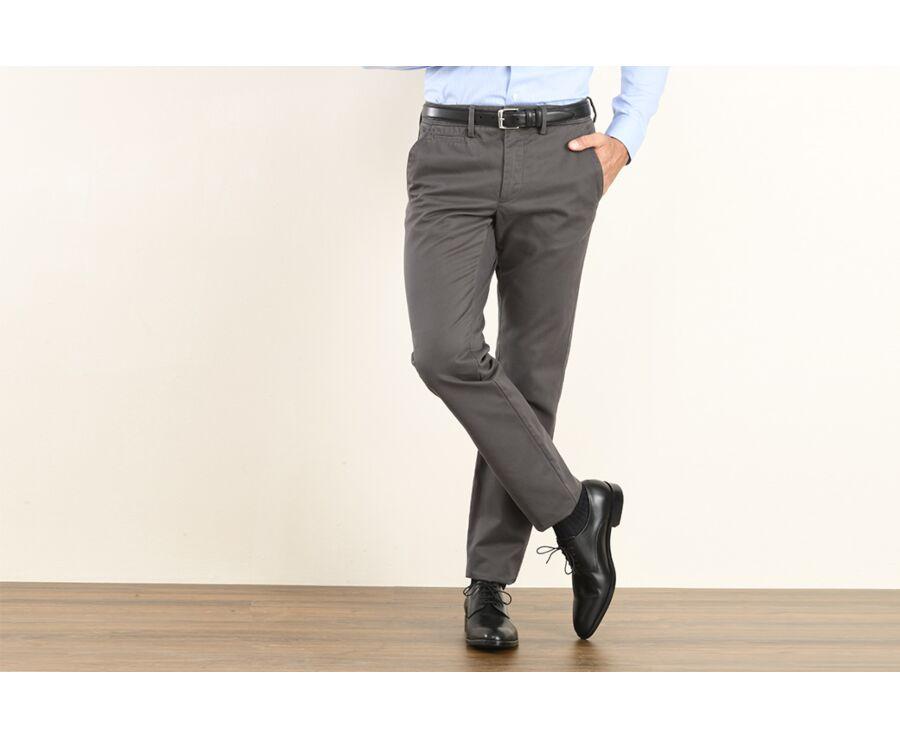 Pantalon chino homme Réglisse - NIGEL II