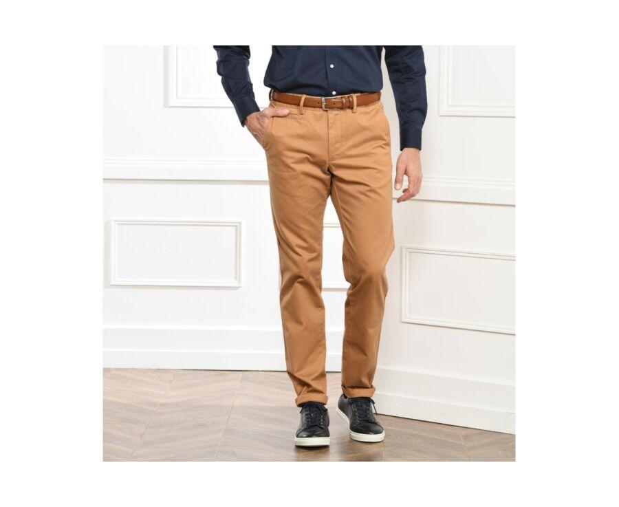 Pantalon chino homme Tabac - NIGEL II