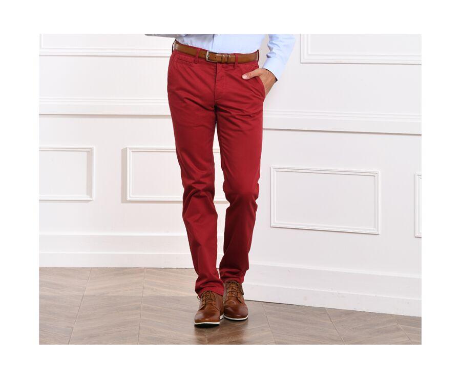 Pantalon chino homme Rouge Grenat - NIGEL II