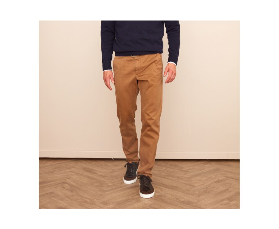 Pantalon chino homme Caramel - NIGEL II