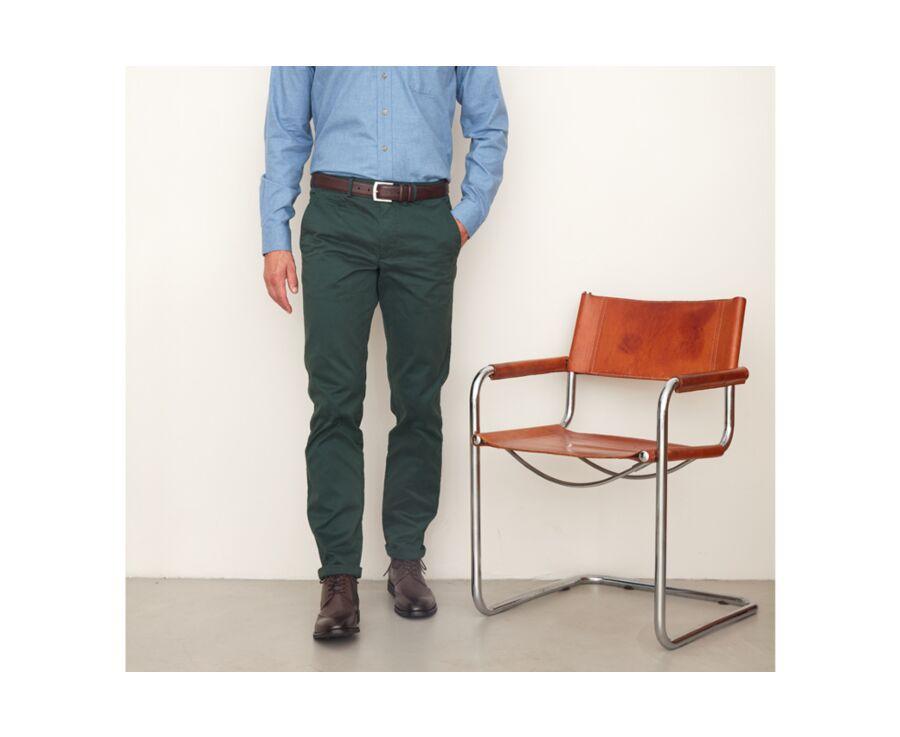 Pantalon chino homme Vert Sapin - NIGEL II