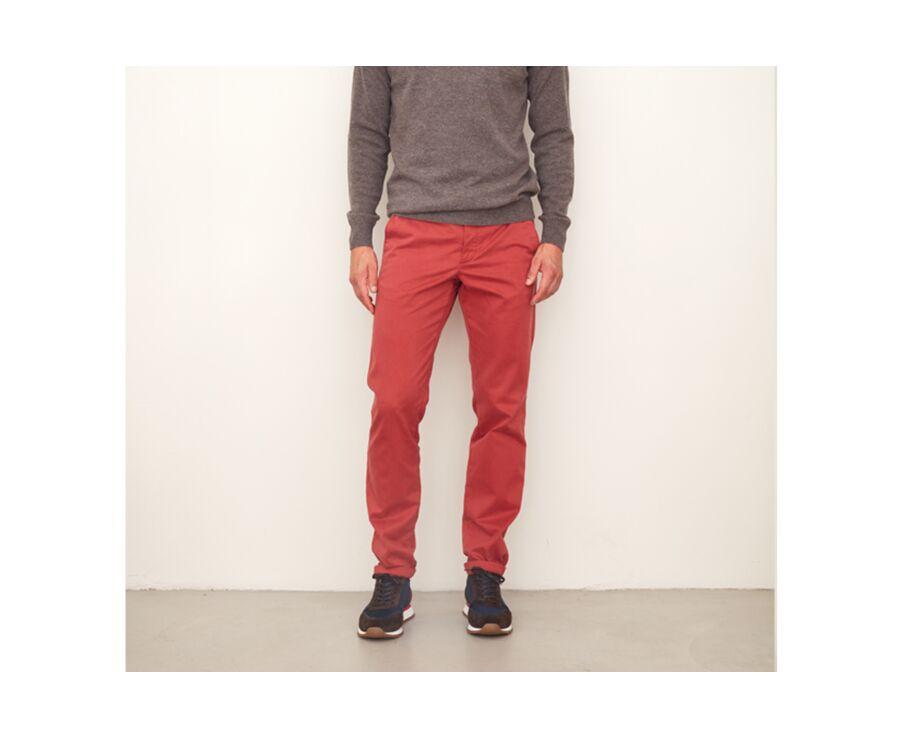 Pantalon chino homme Rouge Sombre - NIGEL II