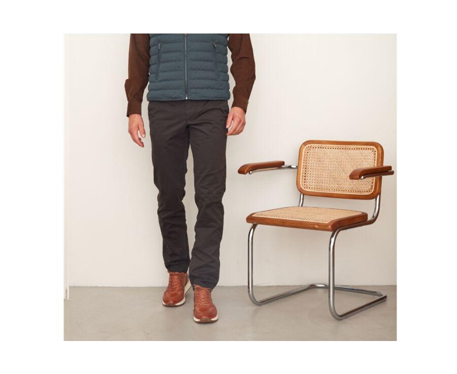 Pantalon chino homme Brun Sombre - NIGEL II