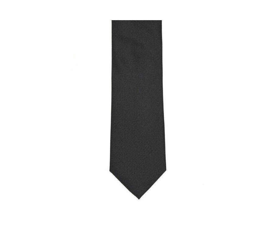Cravate Soie Unie Noir
