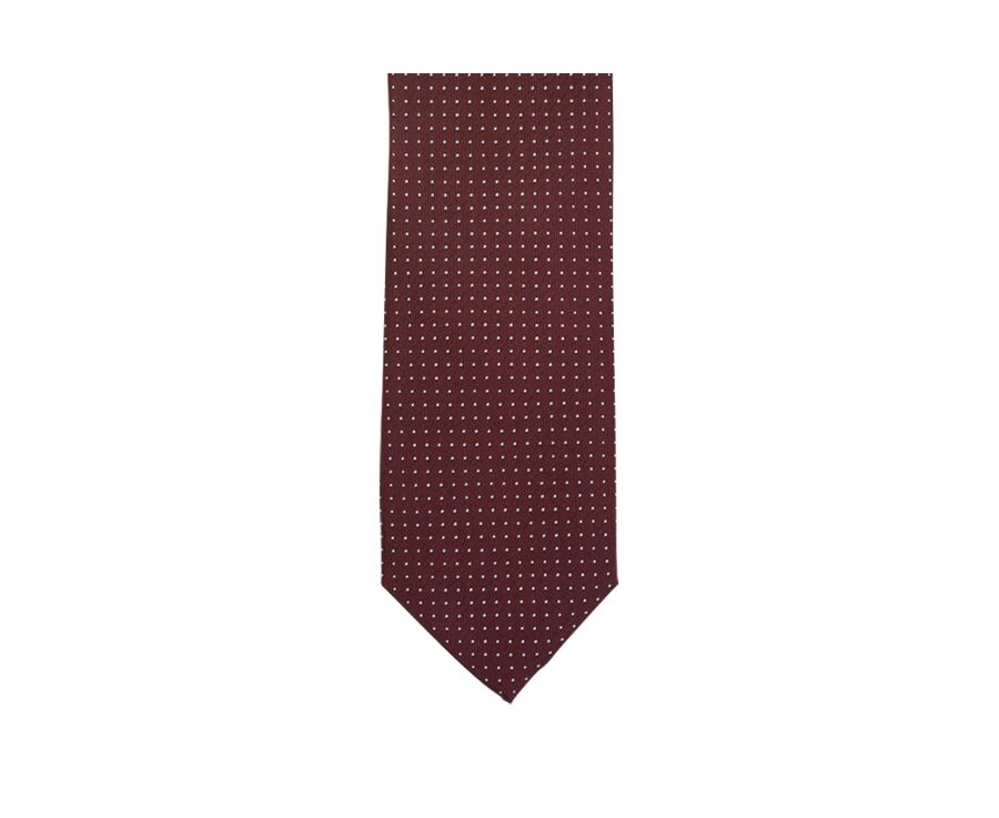 Dotted Silk Tie Burgundy and sky blue