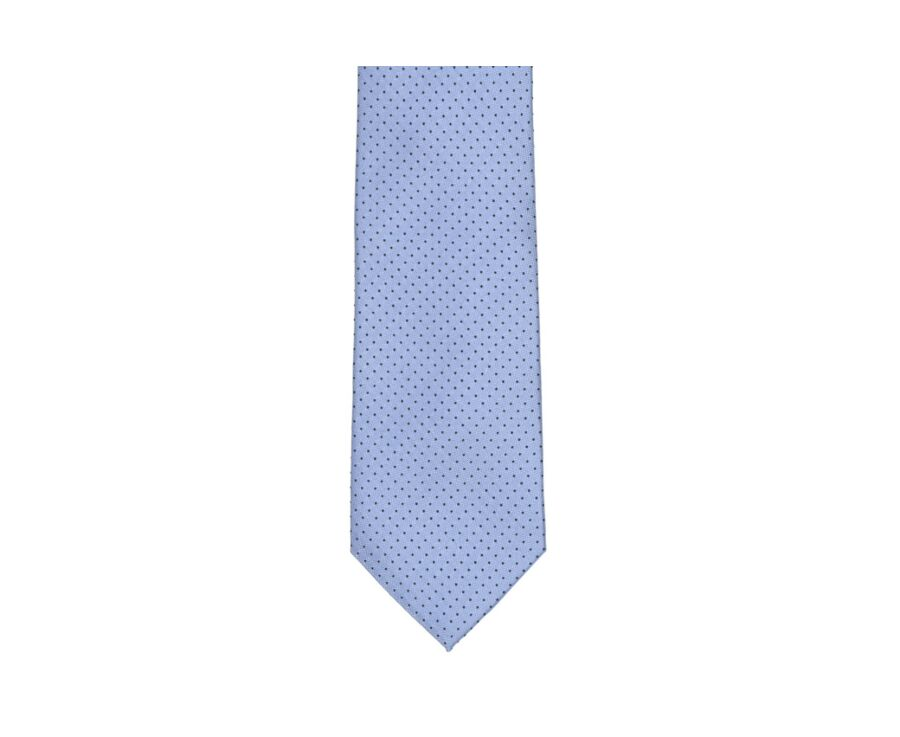 Dotted Silk Tie Sky Blue and Navy Blue