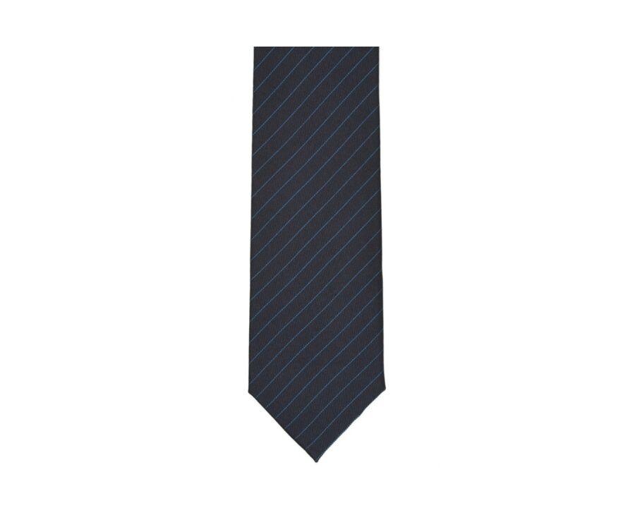 Cravate Soie Rayée Marine et Bleu