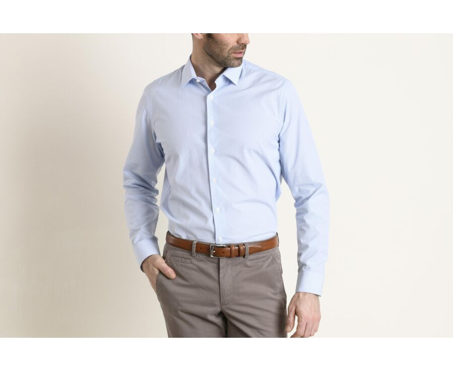 Gaspard Classic Light Blue and White