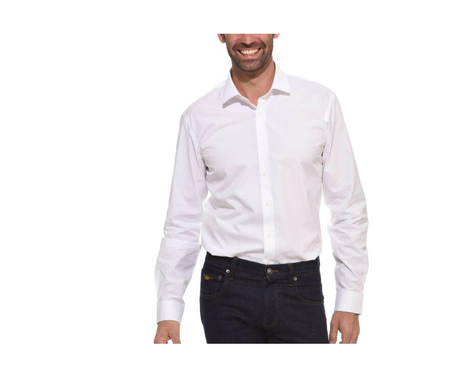 Chemise slim blanche coton popeline - LOUIS CLASSIC SLIM