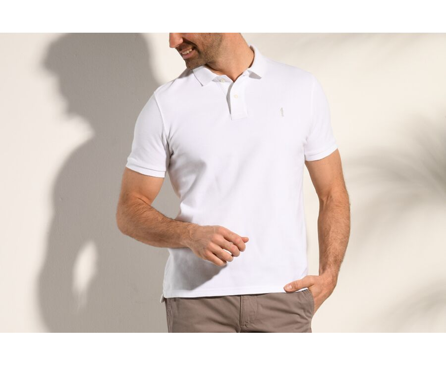 Polo Blanc homme - ANDY II