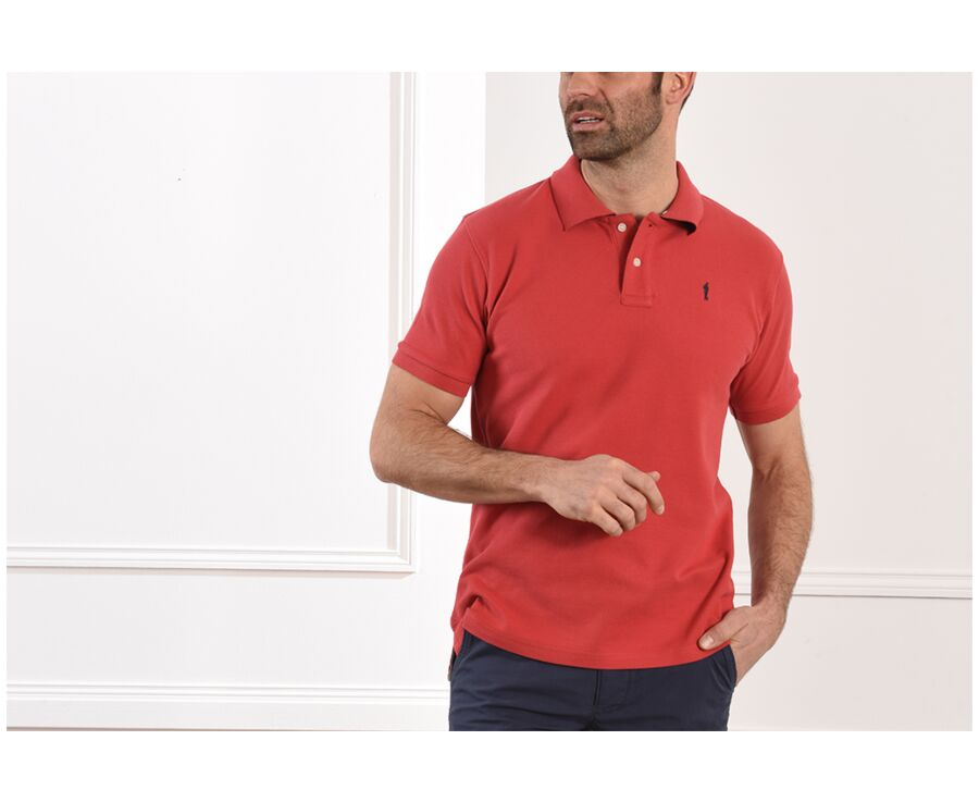 Polo Rouge Basque homme - ANDY II