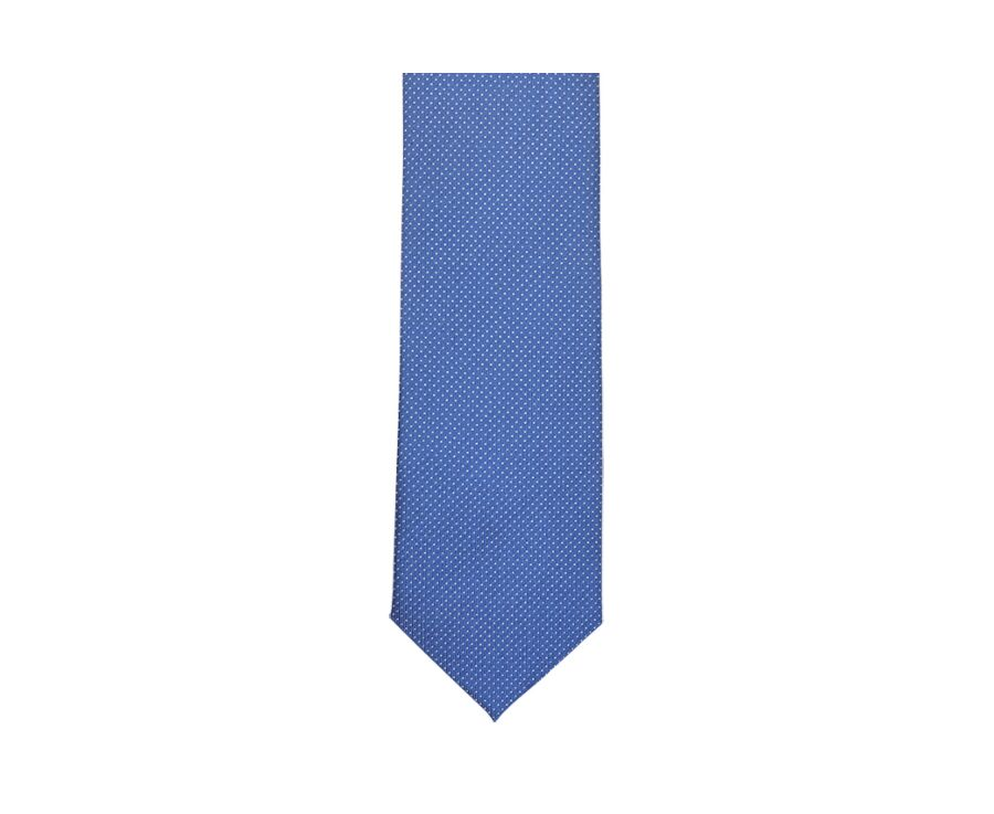 Dotted Silk Tie Blue and White